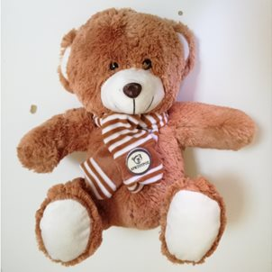 Image of product Λούτρινο αρκουδάκι 30 εκ. καφέ