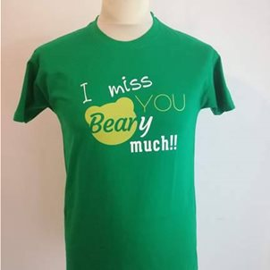 Image of product T-SHIRT I MISS YOU BEARY MUCH