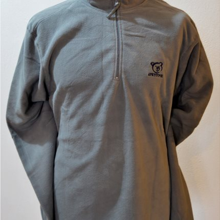 Fleece zip half