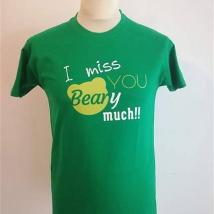 T-SHIRT I MISS YOU BEARY MUCH
