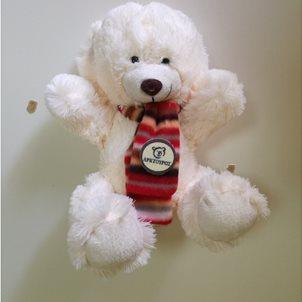 Image of product Λούτρινο αρκουδάκι 20 εκ. άσπρο