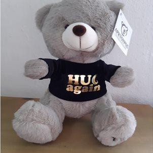"Image of product Λούτρινο αρκούδι ""HUG AGAIN"""
