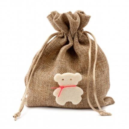 Bonboniere with burlap pouch