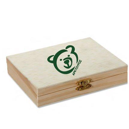 Σετ ζωγραφικής σε ξύλινο κουτί