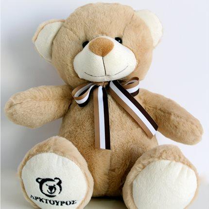 Λούτρινο αρκουδάκι 30 εκ. καφέ