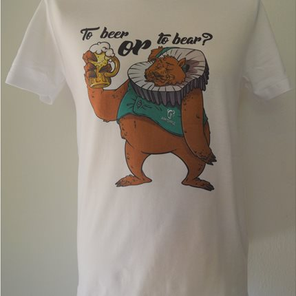 T-SHIRT ΕΝΗΛΙΚΩΝ '' TO BEER OR TO BEAR''